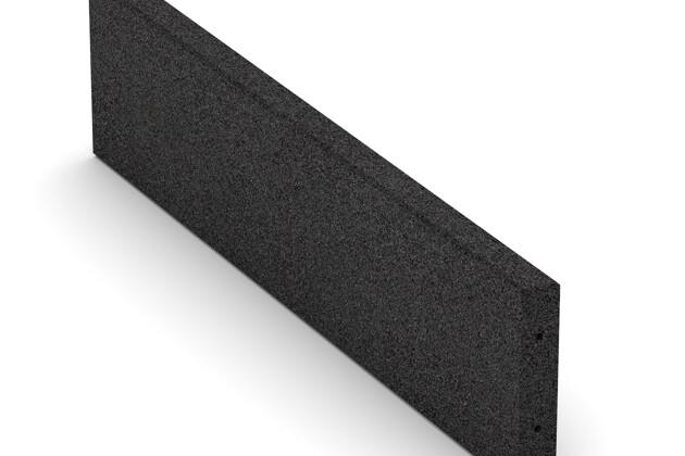 Elastyczny krawężnik von WARCO im Farbdesign Antracyt mit den Abmessungen 1000 x 250 x 50 mm. Produktfoto von Artikel 2596 in der Aufsicht von schräg vorne.
