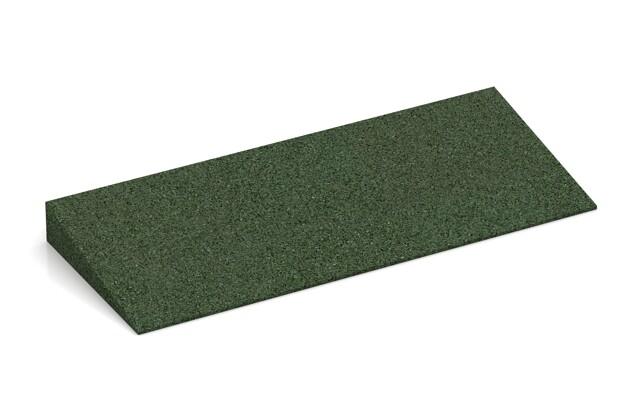 Antypoślizgowy krawężnik klinowy von WARCO im Farbdesign Zielony mit den Abmessungen 500 x 200 x 43/8 mm. Produktfoto von Artikel 2240 in der Aufsicht von schräg vorne.