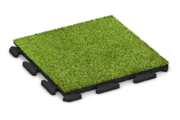 Płyta sportowa ze sztuczną trawą von WARCO im Farbdesign Trawa syntetyczna zielona mit den Abmessungen 500 x 500 x 30 mm. Produktfoto von Artikel 1241 in der Aufsicht von schräg vorne.